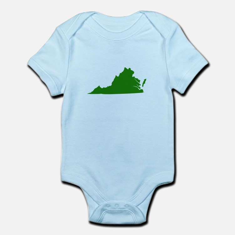 Green Virginia Infant Bodysuit