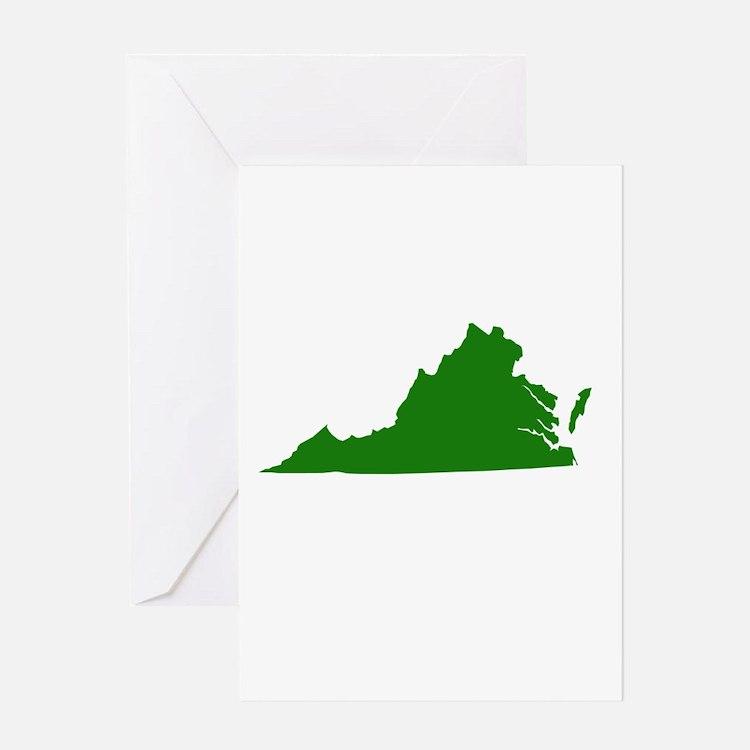 Green Virginia Greeting Card