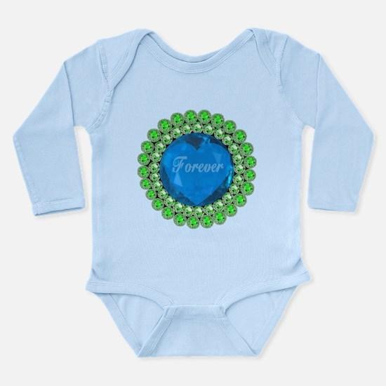 Forever Heart Long Sleeve Infant Bodysuit