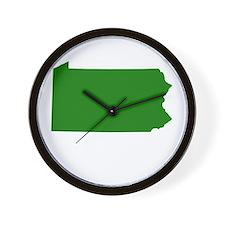 Green Pennsylvania Wall Clock