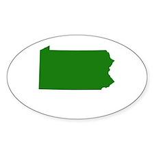 Green Pennsylvania Decal