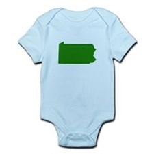 Green Pennsylvania Infant Bodysuit