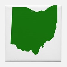 Green Ohio Tile Coaster