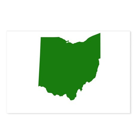 Green Ohio Postcards (Package of 8)