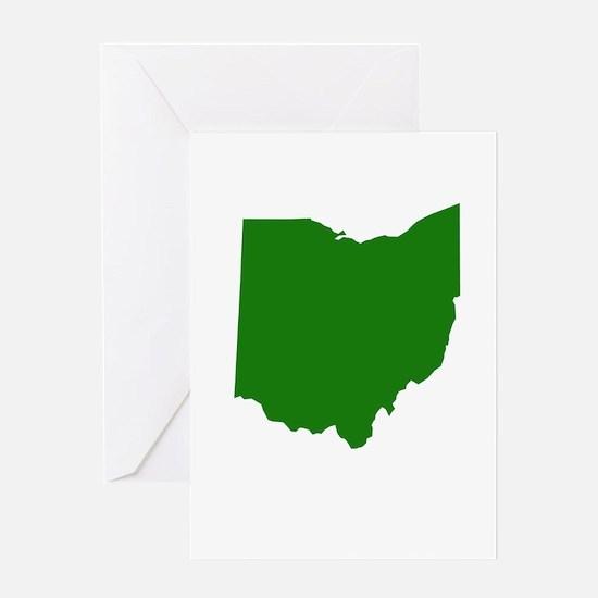 Green Ohio Greeting Card