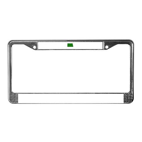 Green North Dakota License Plate Frame