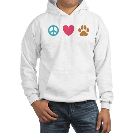 Peace Love Dogs [st] Hooded Sweatshirt