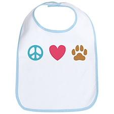 Peace Love Dogs [st] Bib