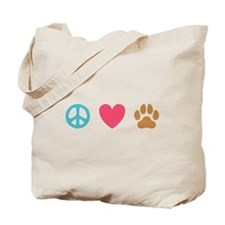 Peace Love Dogs [st] Tote Bag