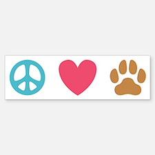 Peace Love Dogs [st] Bumper Bumper Sticker