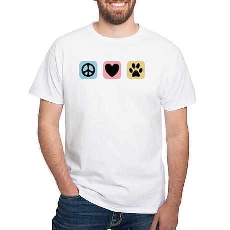 Peace Love Pets [i] White T-Shirt