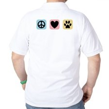 Peace Love Pets [i] T-Shirt