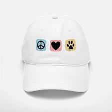Peace Love Pets [i] Baseball Baseball Cap