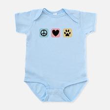 Peace Love Pets [i] Infant Bodysuit