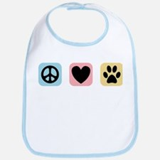 Peace Love Pets [i] Bib