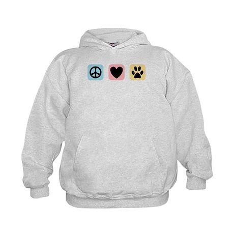 Peace Love Pets [i] Kids Hoodie