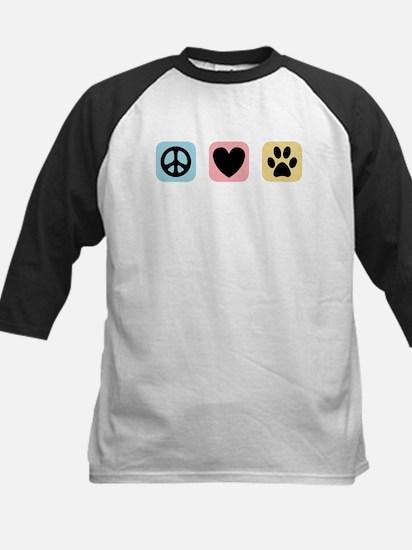 Peace Love Pets [i] Kids Baseball Jersey
