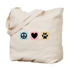 Peace Love Pets [i] Tote Bag