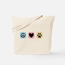 Peace Love Pets [i] Tote Bag