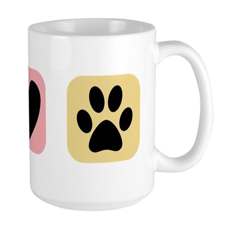 Peace Love Pets [i] Large Mug