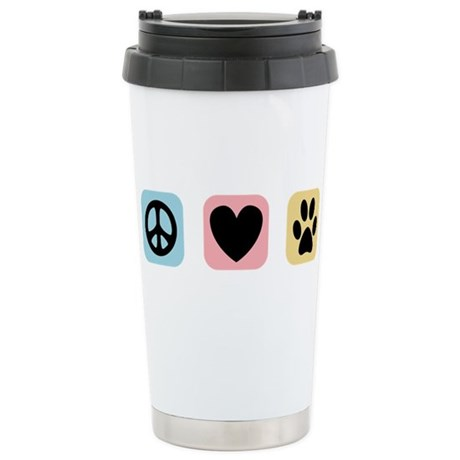 Peace Love Pets [i] Stainless Steel Travel Mug