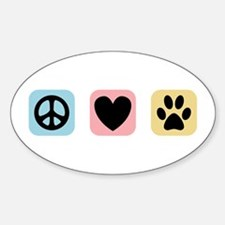Peace Love Pets [i] Decal