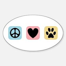 Peace Love Pets [i] Sticker (Oval)