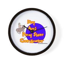Dog And Pony Show Coordinator Wall Clock