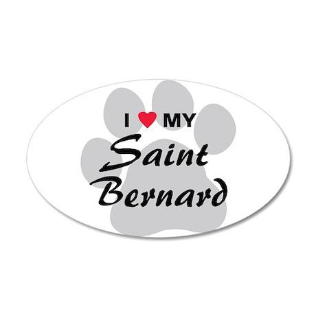 Saint Bernard 38.5 x 24.5 Oval Wall Peel