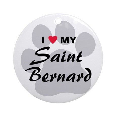 Saint Bernard Ornament (Round)