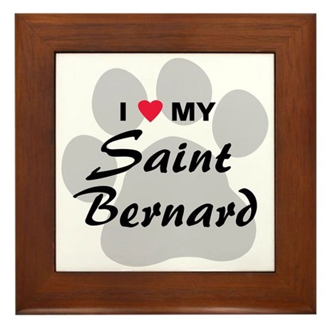 Saint Bernard Framed Tile