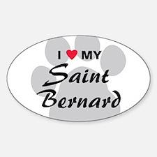 Saint Bernard Sticker (Oval)