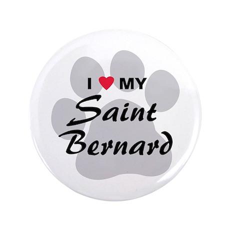 """Saint Bernard 3.5"""" Button"""