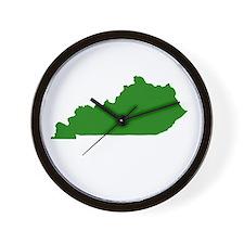 Green Kentucky Wall Clock