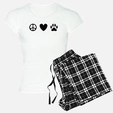 Peace Love Dogs [st b/w] pajamas