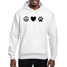 Peace Love Dogs [st b/w] Jumper Hoodie