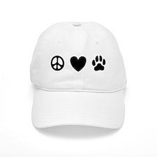 Peace Love Dogs [st b/w] Baseball Cap