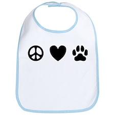 Peace Love Dogs [st b/w] Bib