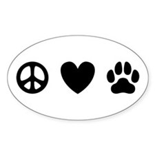 Peace Love Dogs [st b/w] Decal