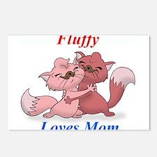 FluffyLovesMom Postcards (Package of 8)