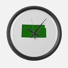 Green Kansas Large Wall Clock
