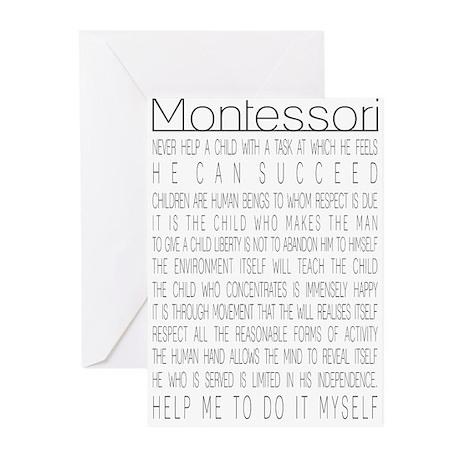 Maria Montessori Quotes Greeting Cards (Pk of 10)