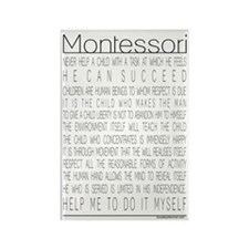 Maria Montessori Quotes Rectangle Magnet