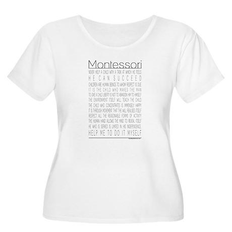 Maria Montessori Quotes Women's Plus Size Scoop Ne