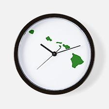 Green Hawaii Wall Clock