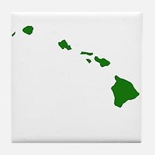 Green Hawaii Tile Coaster
