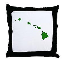 Green Hawaii Throw Pillow