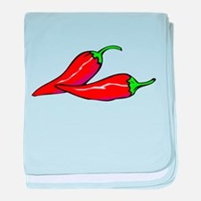 Red Hot Peppers baby blanket