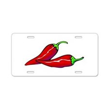 Red Hot Peppers Aluminum License Plate