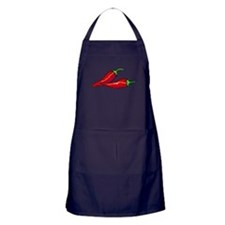 Red Hot Peppers Apron (dark)